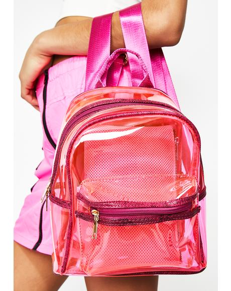 Lady Vile Stash Clear Backpack