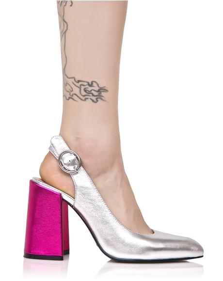 Metallic Chester Kitten Heels