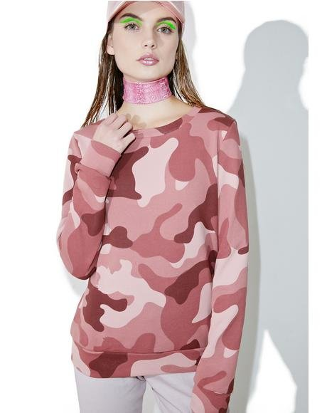 Blushing Camo Sweater