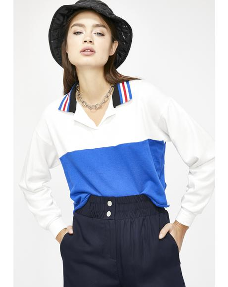 Alina Colorblock Polo Shirt