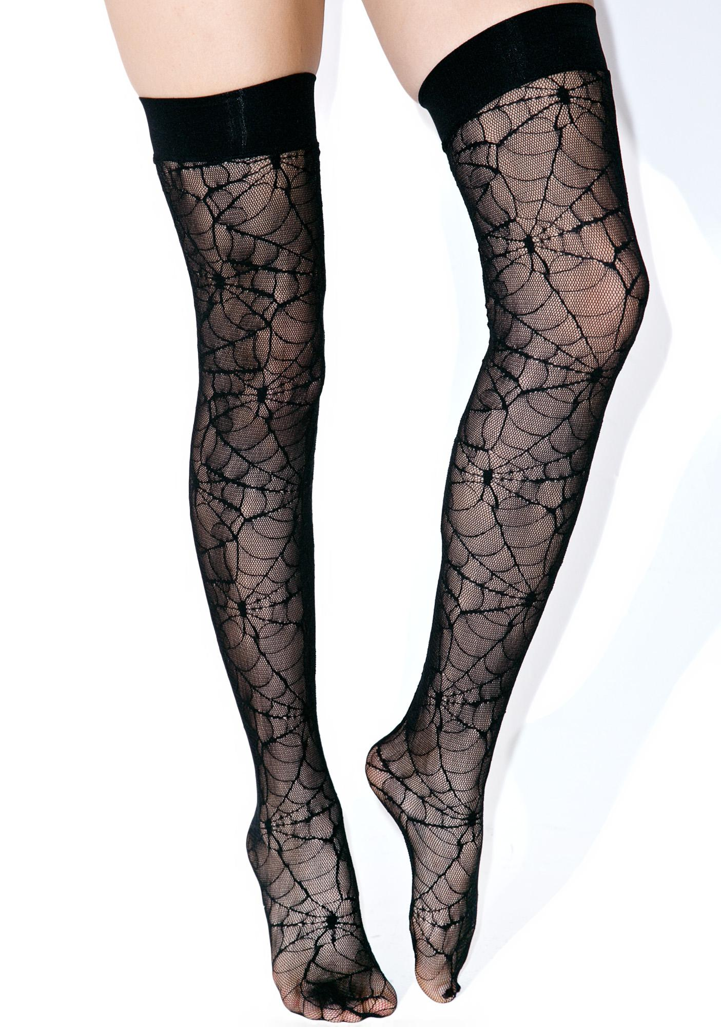 Spiderweb Thigh Highs