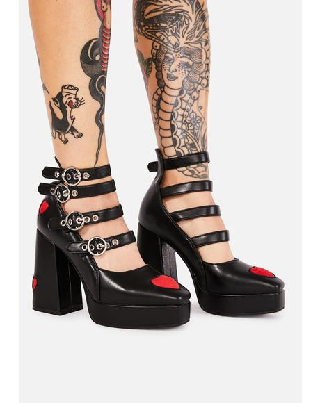 This Heart Of Mine Buckle Heels