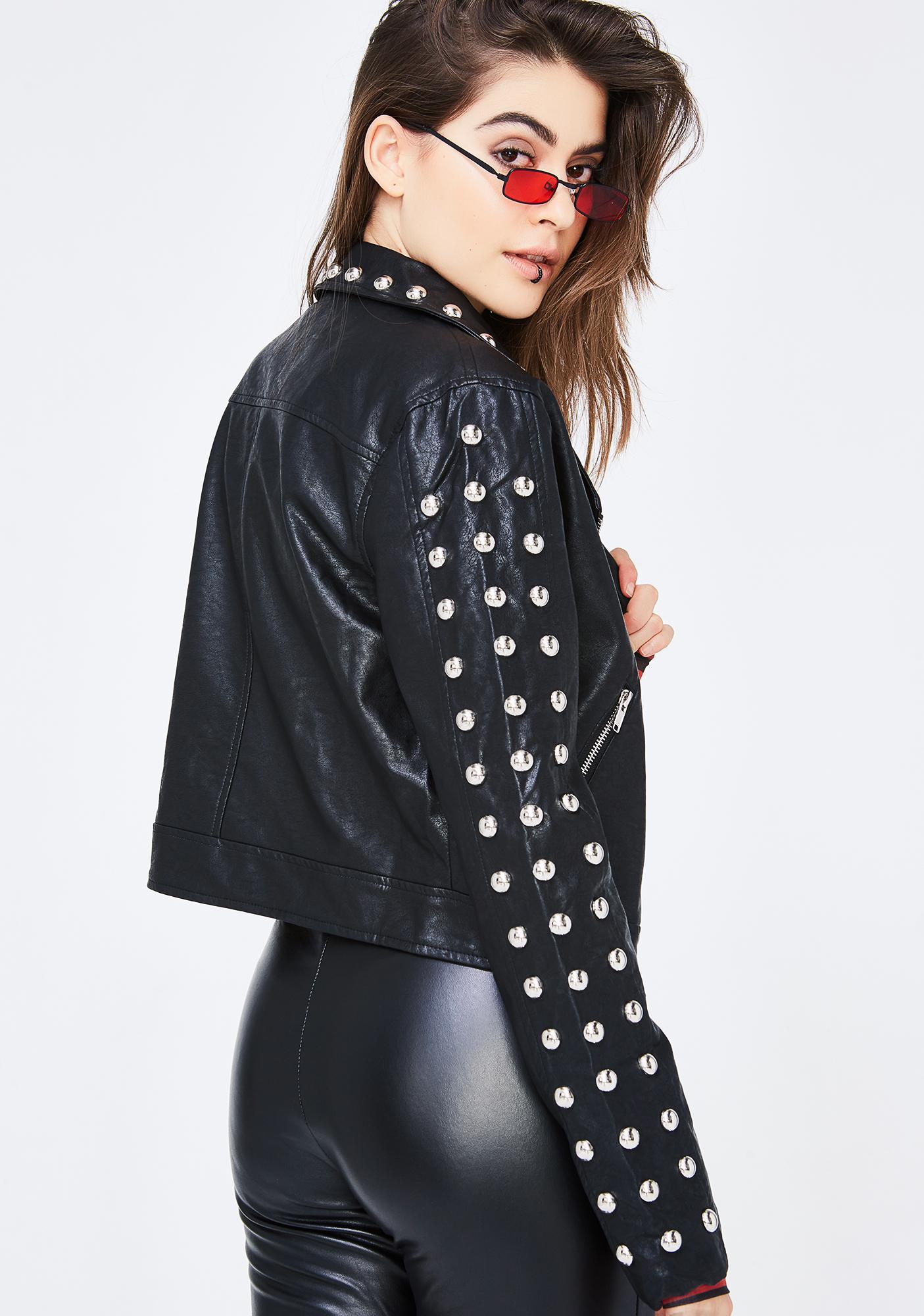 Never Cared Studded Jacket