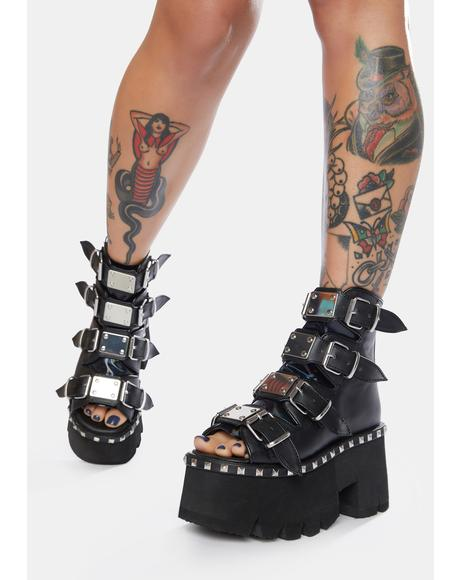 Ashes Platform Bootie Sandals