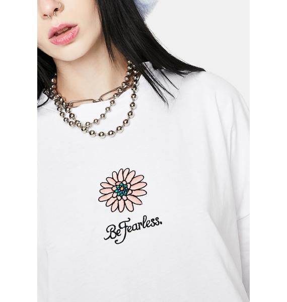 Glamorous Be Fearless Embroidered Tee Dress