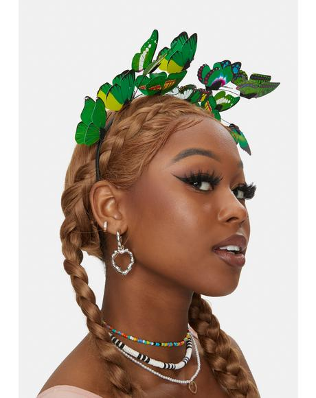 Jade Princess Of The Forest Butterfly Headband
