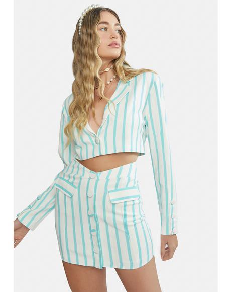 Dionne Crop Linen Blazer