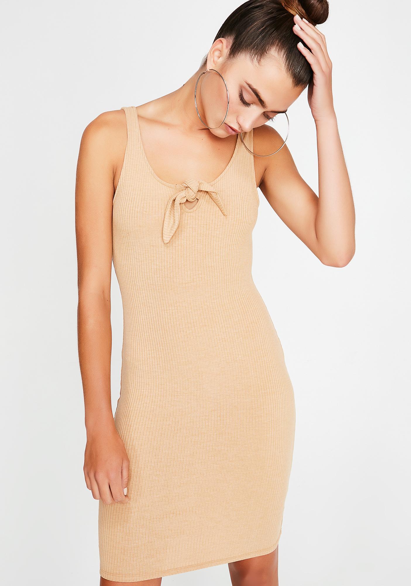 Cocoa Got Ya Tied Up Knit Dress