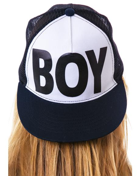 BOY Flat Bill Cotton Trucker Cap