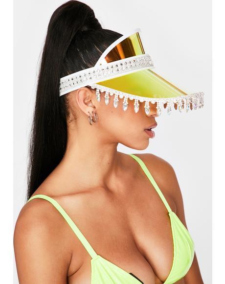 Yellow Holographic Advize Me Visor Hat