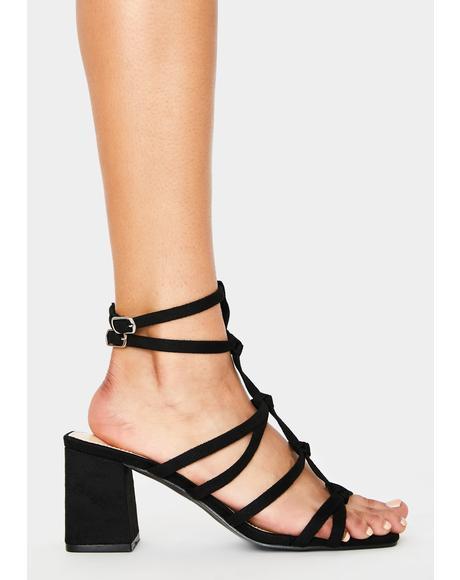 Black Zizi Block Heels