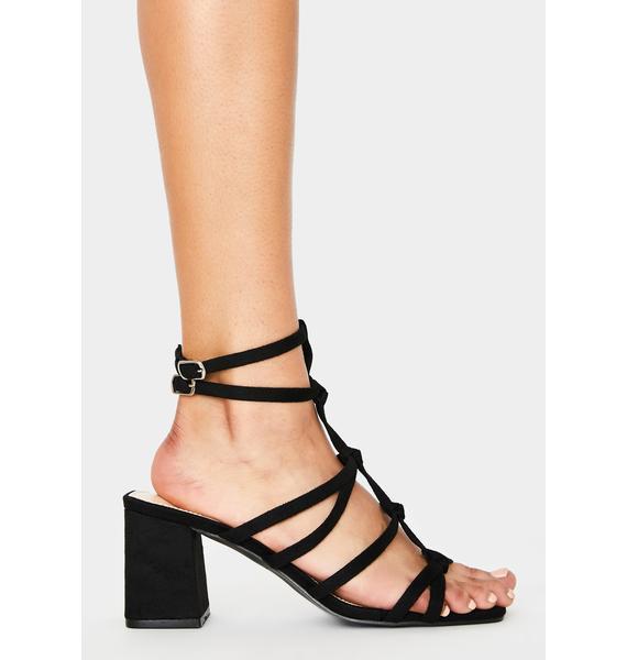 Public Desire Black Zizi Block Heels