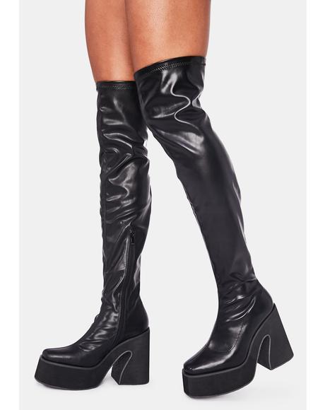 Platform Thigh High Boots