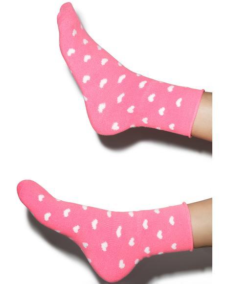 Head Over Heels Fleece Socks
