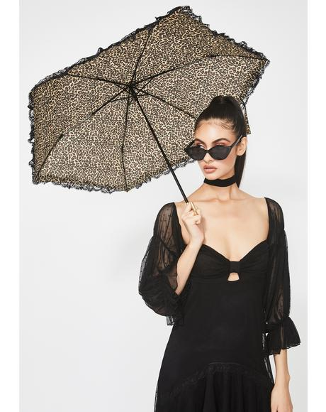 Fancy Cat Leopard Umbrella