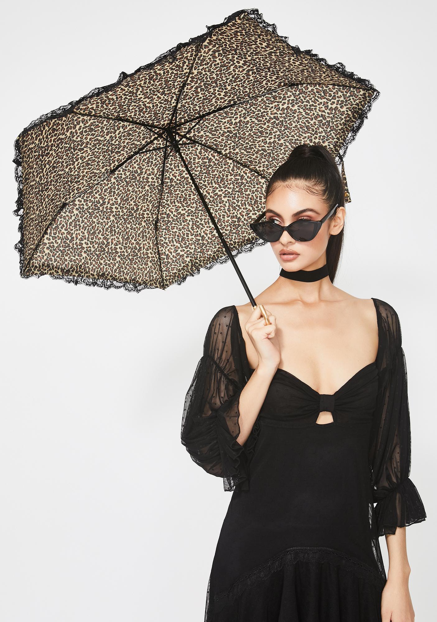 Fancy Cat Leopard Umbrella
