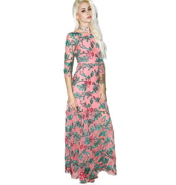 For Love & Lemons Rosali Maxi Dress