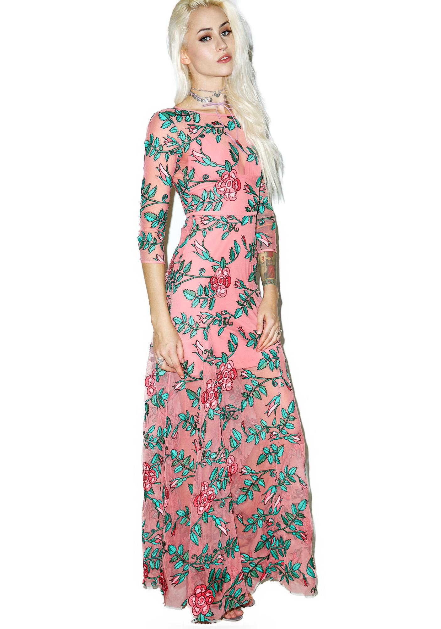 For Love & Lemons Rosali Maxi Dress