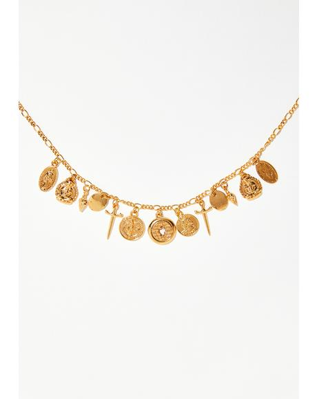 All The Riches Coin Necklace