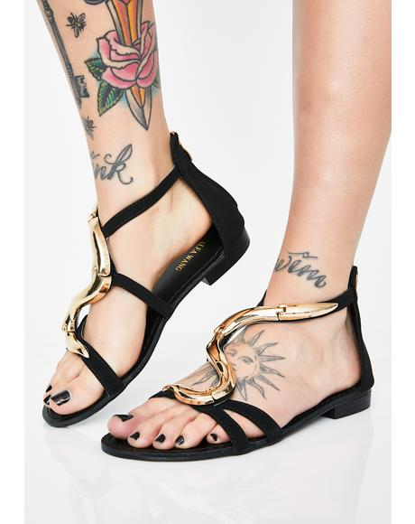 Tonight We Are Victorious Snake Sandals