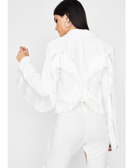 Pure Fringe Benefits Cropped Jacket