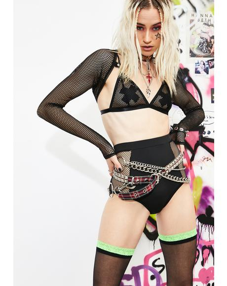 Rock Idol Fishnet Shorts
