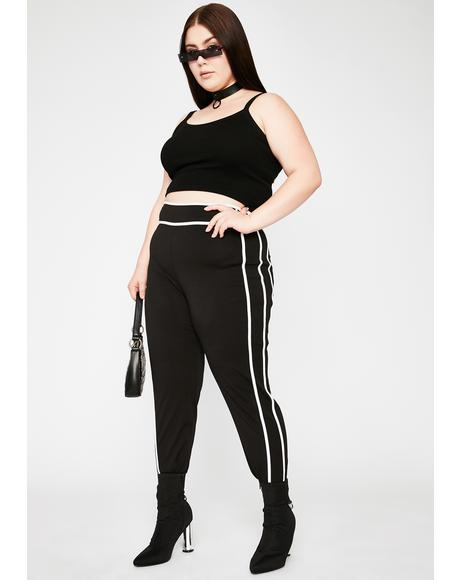 She's In The Mood Contrast Stitch Leggings
