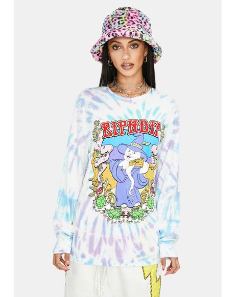 Wizard Graphic Long Sleeve Top