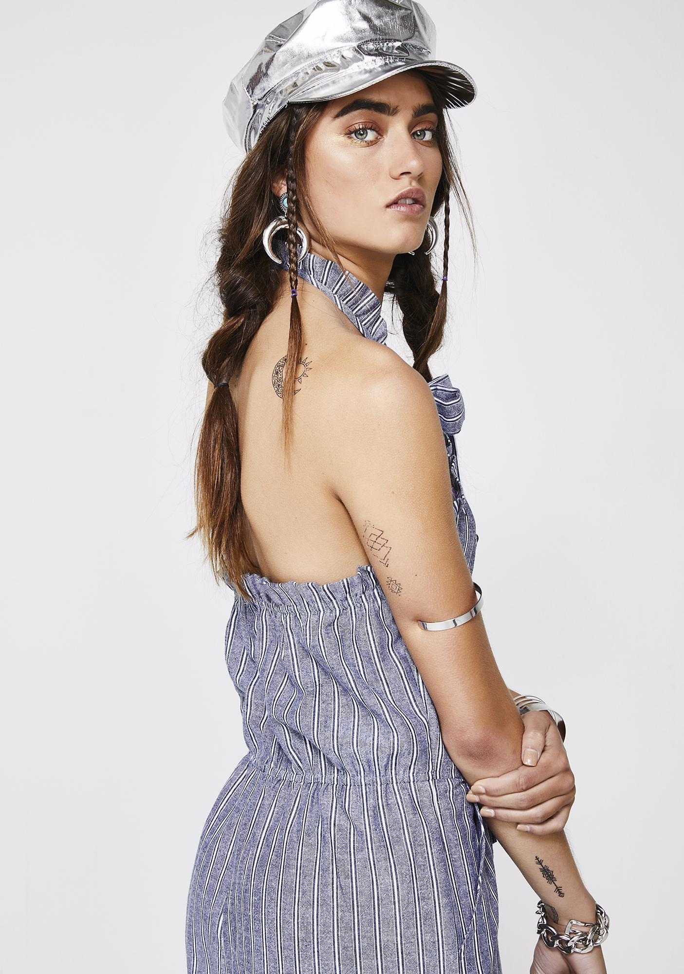 Delicate Heart Bow Jumpsuit