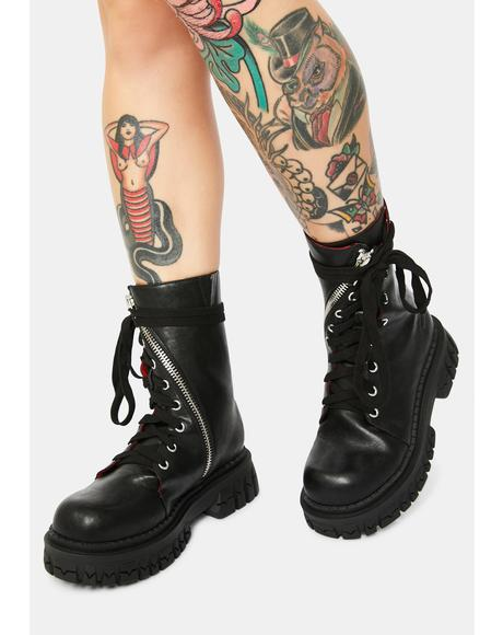 Twisted Combat Boots