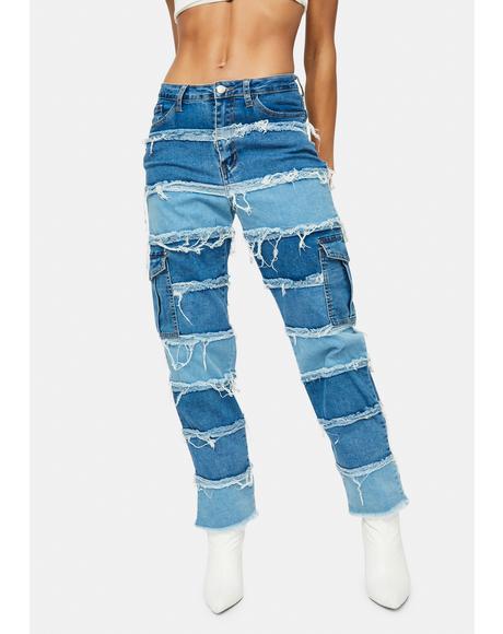 Xxtra Hot Patchwork Cargo Pants