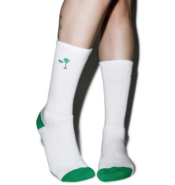 HUF Do Nothing Club Crew Socks