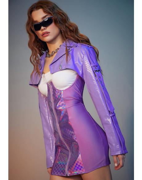 Lavender Rev It Up Shrug Moto Jacket