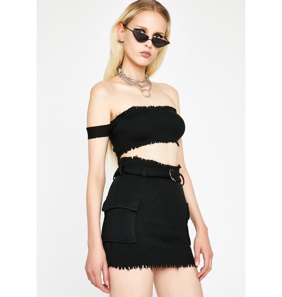 Night Clap Back Queen Skirt Set
