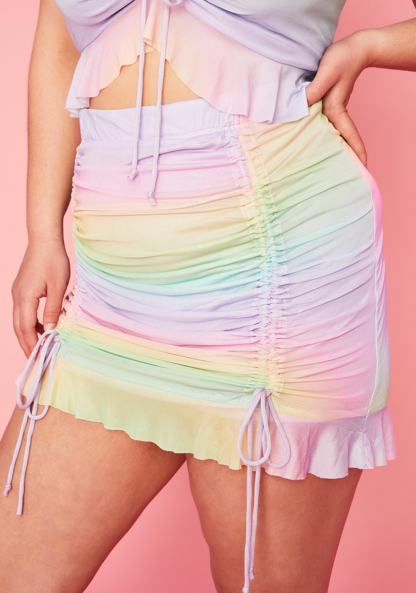 Sugar Thrillz Servin' Sweet Nectar Mini Skirt
