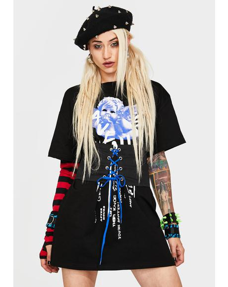 Save Yourself Corset T-Shirt Dress