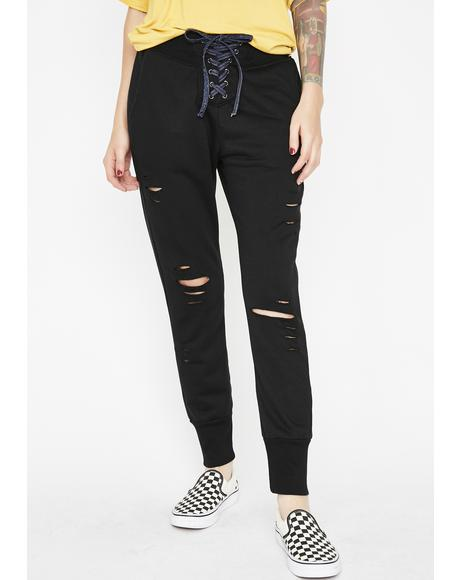 Midnight Renegade Of Funk Distressed Joggers