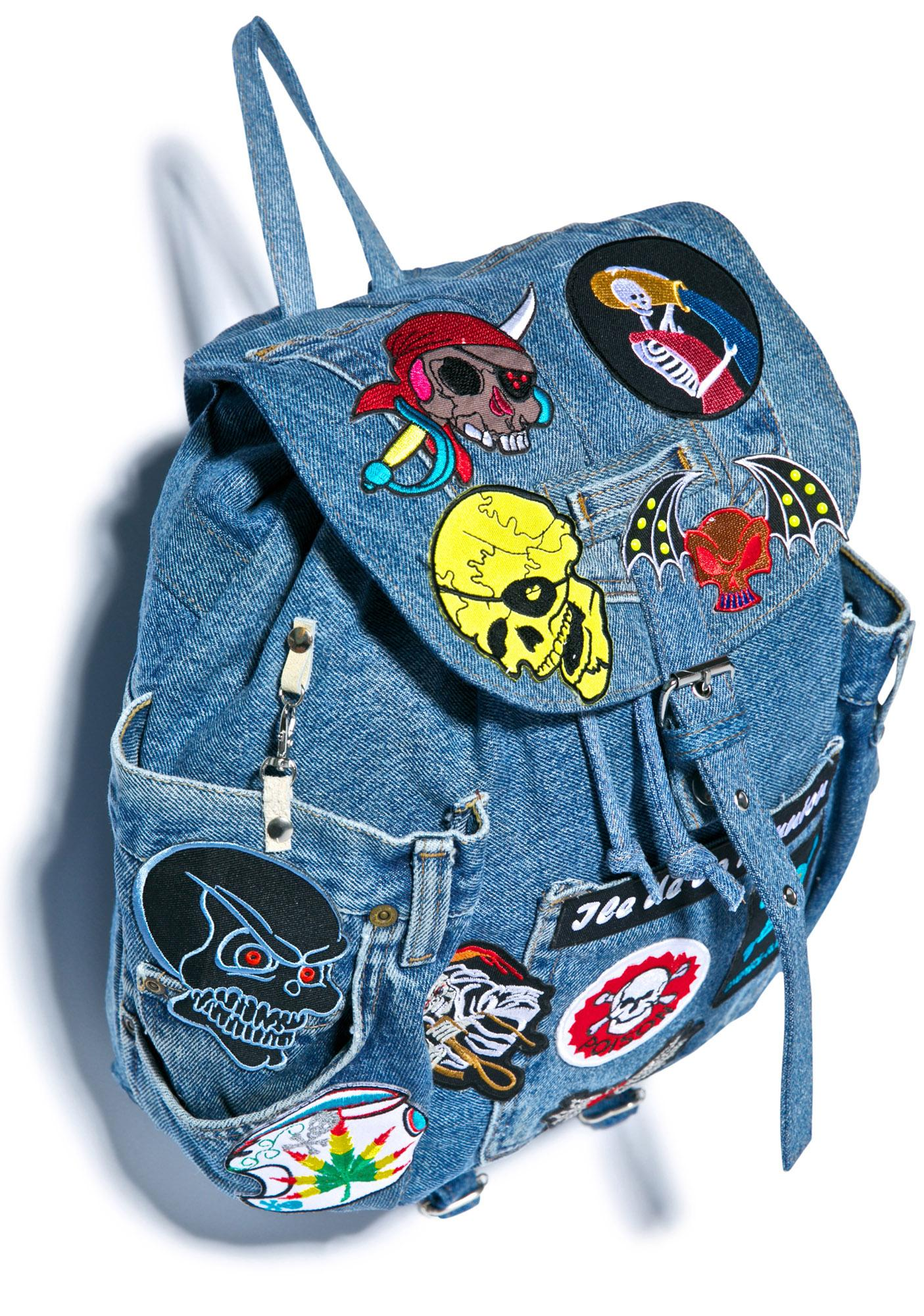 Throw 'em Up Patched Backpack
