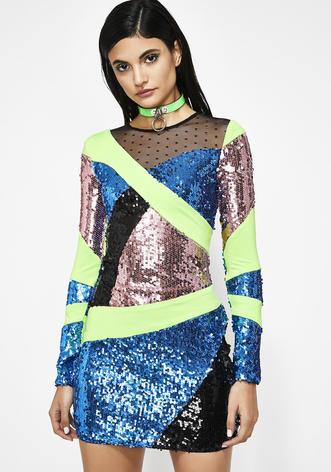 f41de2549e6 Sequin Long Sleeve Mini Dress | Dolls Kill