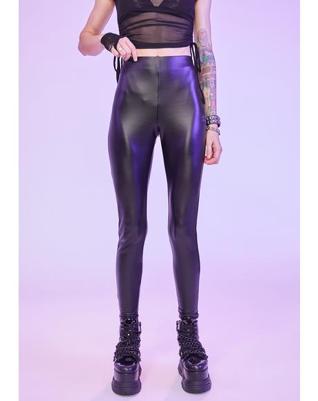 Midnight Downtown Vegan Leather Leggings