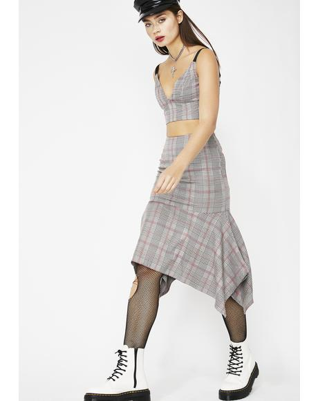 Schoolin' You Plaid Skirt