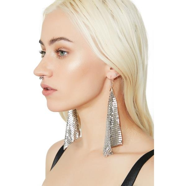 Silver Fluttering Earrings