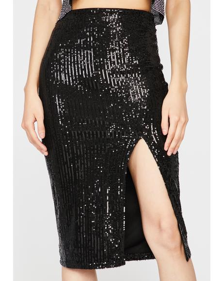 VIP Entrance Sequin Skirt