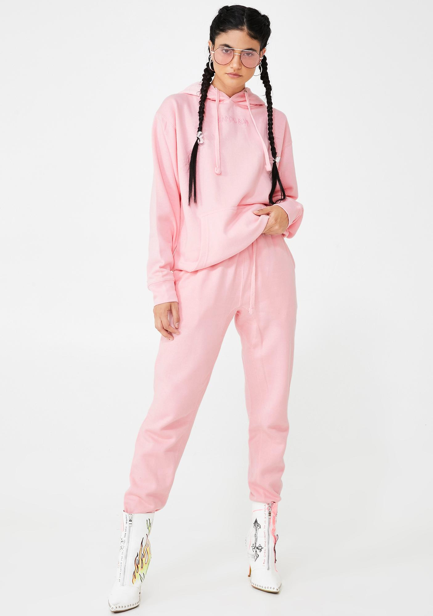 BADGAL BLVD Baby Pink Jogger Set