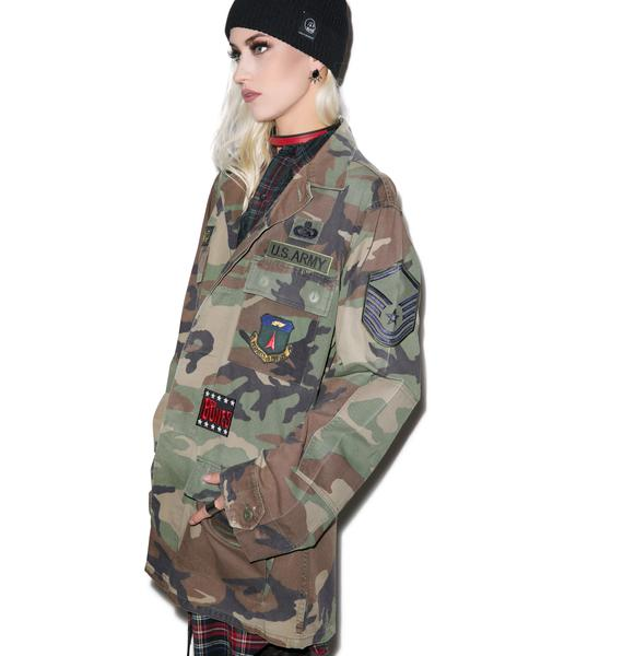 Raise Yer Metal Horns Camo Jacket