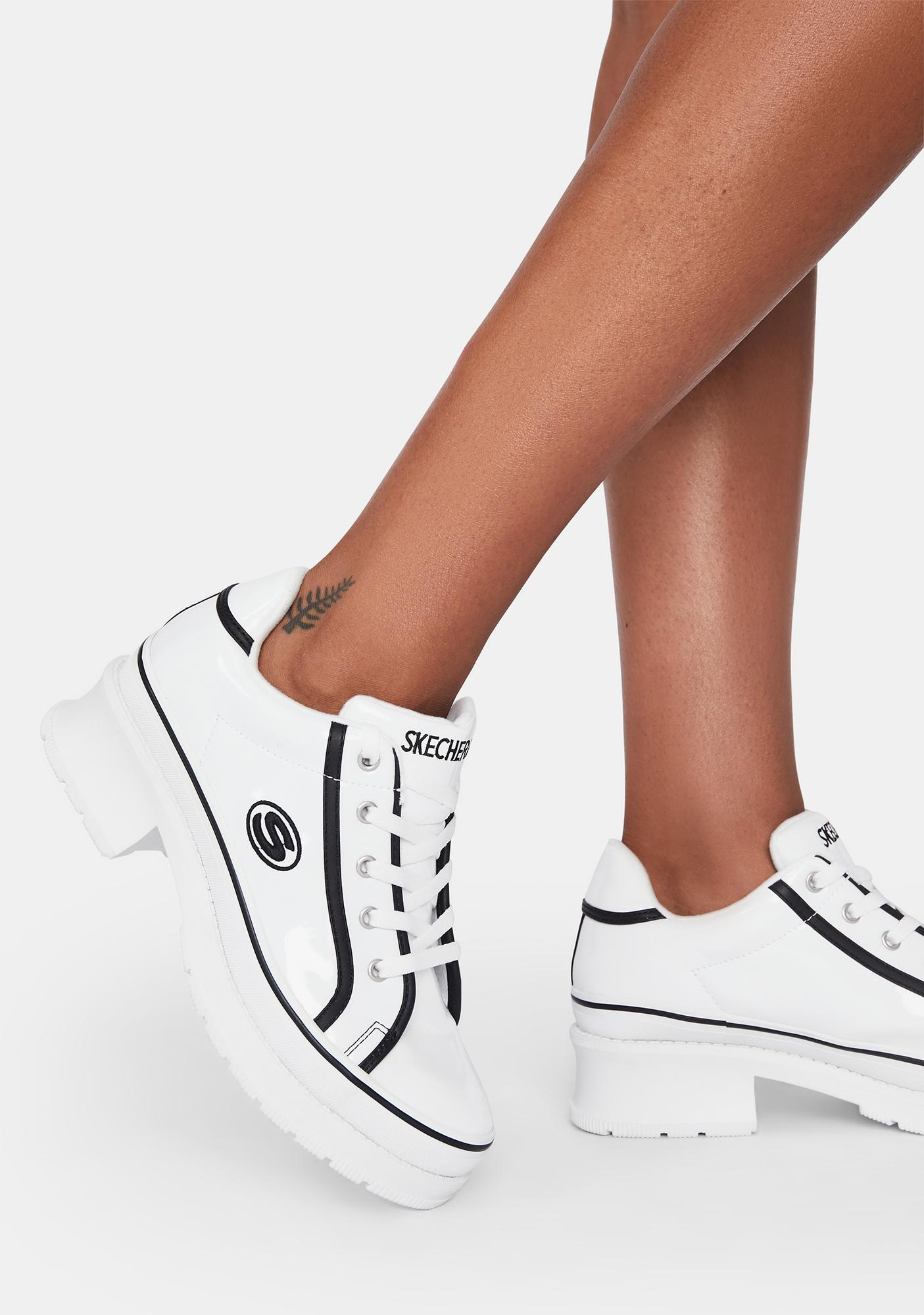 Skechers White Heartbeat Loud Sneakers