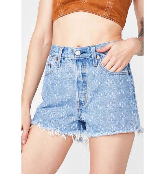 Levis Dottie Blues 501 High Rise Shorts