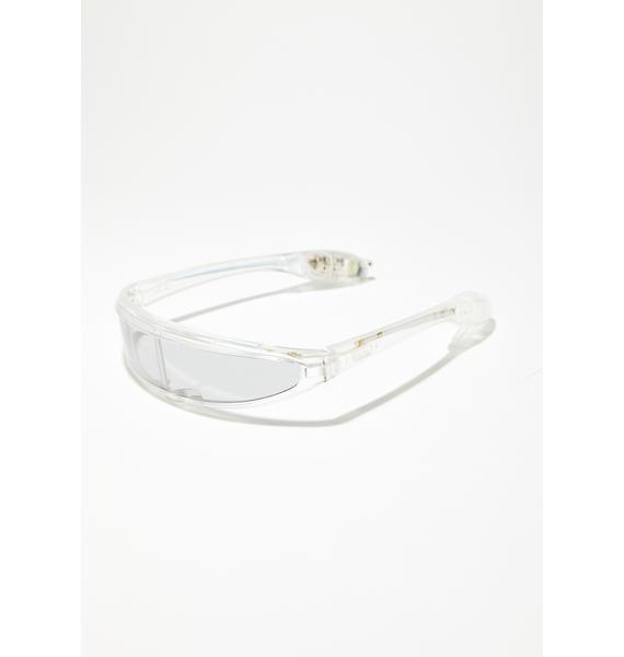 Cyberdog Flashing Visor Glasses