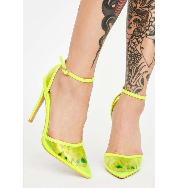 AZALEA WANG Crazy Neon Heels