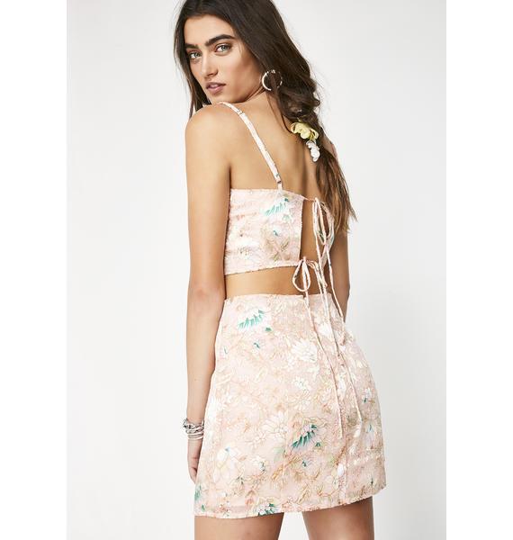 Dazed Out Floral Skirt